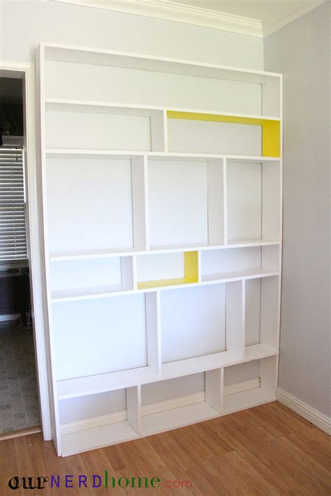 diy bookcase before our home