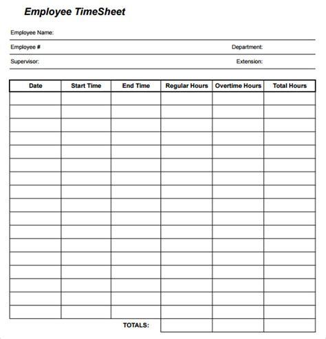 timesheet calculator template sle employee timesheet calculator 8 documents in pdf