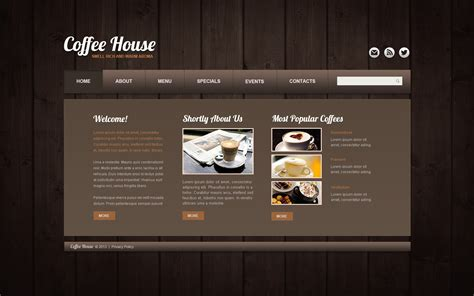 Coffee Shop Website Template 44060 Free Coffee Website Templates