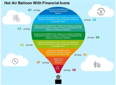 hot air balloon  financial icons flat powerpoint