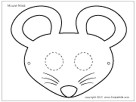 mouse mask template printable mouse mask template