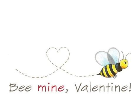 bee mine card template printable bee mine card