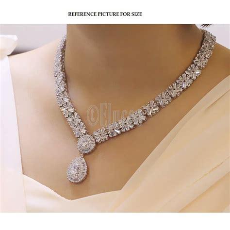 Exclusive Set exclusive luxury cubic zirconia necklace earring bracelet