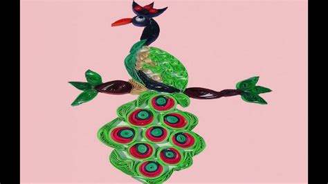 paper quilling peacock tutorial paper quilling peacock making tutorial youtube