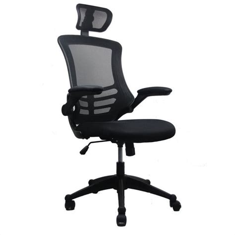 High Back Office Chair With Headrest by Techni Mobili Executive High Back Office Chair With Headrest In Black Rta 80x5 Bk