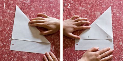 How To Fold Notebook Paper Into A - origami note