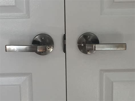 Interior Door Levers Modern Polar Interior Door Handle Lever Set Push Button Polished Nickel Toronto Door