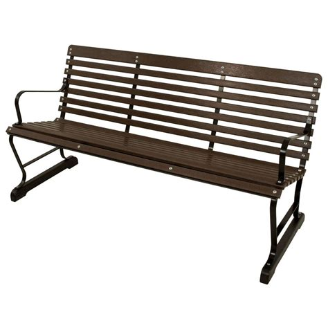 home depot outdoor bench ivy terrace 60 in black and mahogany patio bench