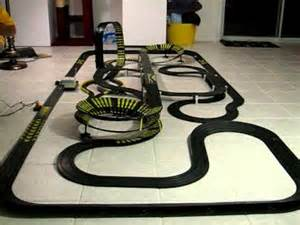 Electric Race Car Track Australia Slot Car Racing Set With Tyco 440 X2 Indy Car 5