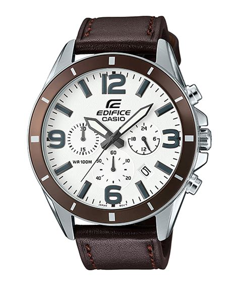 Casio Edifice Efr 553 Leather Brown Silver efr 553l 1bv casio edifice january 2016 released