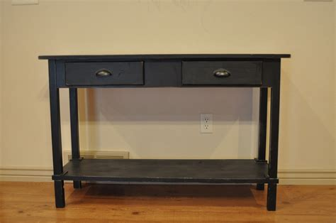 console table and bench furniture diy painted reclaimed wood long narrow entryway
