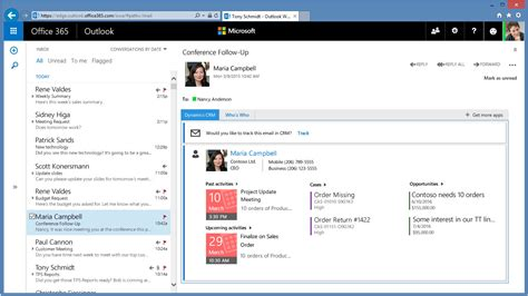 Office 365 Outlook Email Amazing Business Productivity Through Office 365 Dynamics