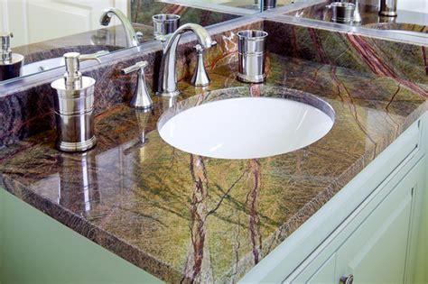 rainforest green granite vanity modern bathroom boston