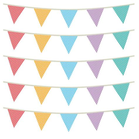 bunting wall stickers fabric patterned bunting wall stickers by spin collective notonthehighstreet