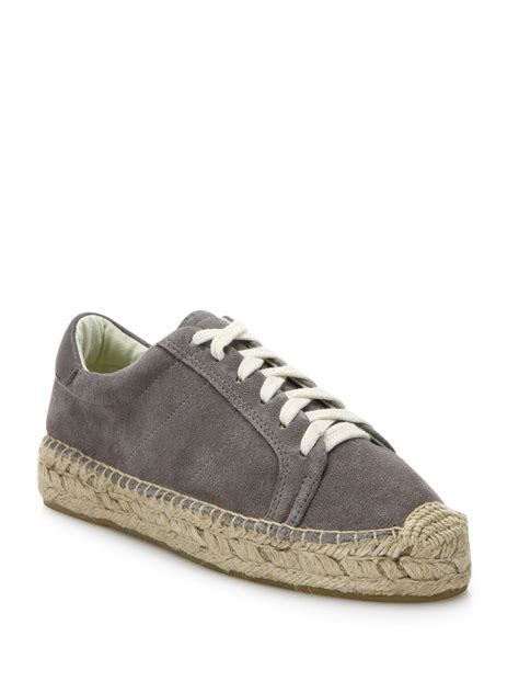 soludos sneakers soludos canvas lace up espadrille platform sneakers in