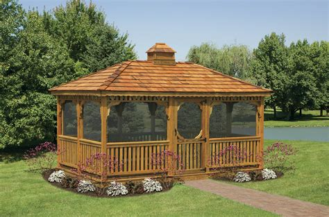 gazebo north country sheds wood rectangular gazebos