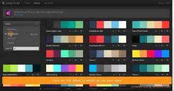 adobe color themes get most popular color palette from adobe kuler