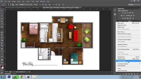 layout plan photoshop adobe photoshop cs6 rendering a floor plan part 6