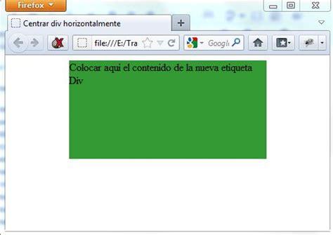 imagenes html centrar centrar un elemento div horizontalmente con css y