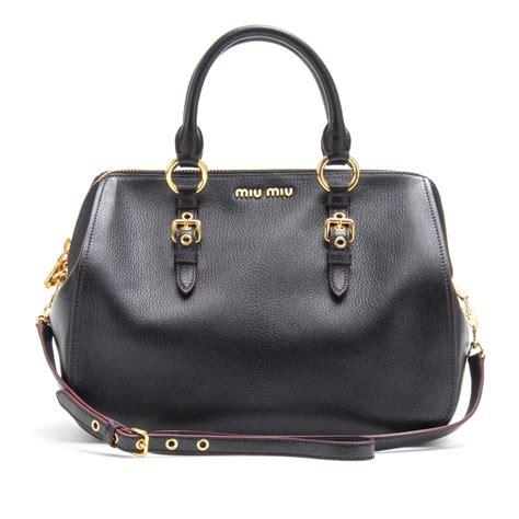 Miu Miu Spider Leather Bag miu miu leather handbag in black lyst