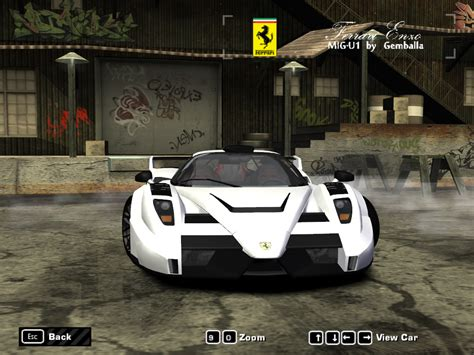 gemballa mig u1 need for speed most wanted ferrari enzo mig u1 enzo by