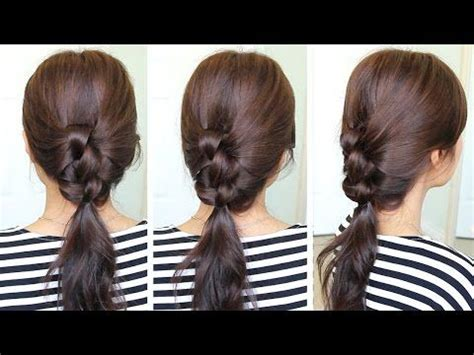 everyday hairstyles bebexo everyday knotted ponytail hairstyle hair tutorial