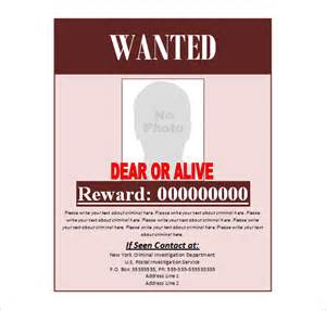 fbi wanted poster template 6 wanted poster templates word excel pdf templates