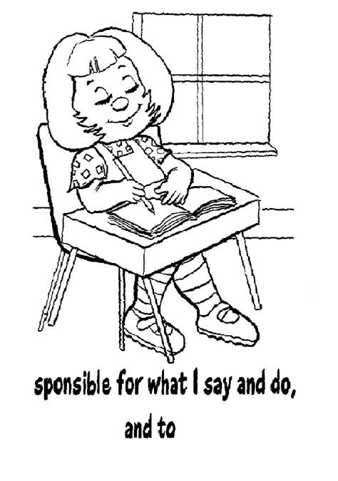 Girl Scout Promise Coloring Page Coloring Home Scout And Promise Coloring Pages Free