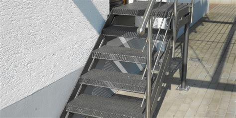 edelstahl geländer teile aussen treppen aussen treppe 206