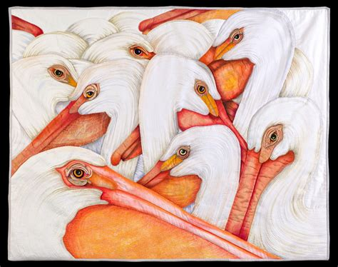Velda Newman Quilts by The Of The Quilt American White Pelicans Quilt By Velda Newman