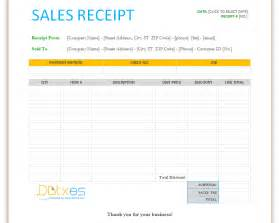 Download Free Receipt Template Sales Receipt Template For Word Dotxes