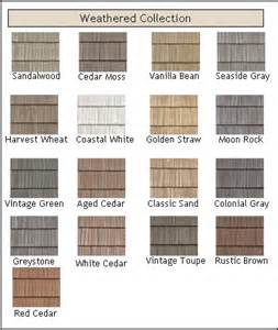 Vinyl Cedar Shake Siding Colors Weathered Vinyl Shakes In Straw Color Is Our Choice For