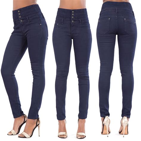 Celana Highwaist Hw Stretch 10 8 color high waist leg stretch denim size 6 8 10 12 14 16 18 ebay