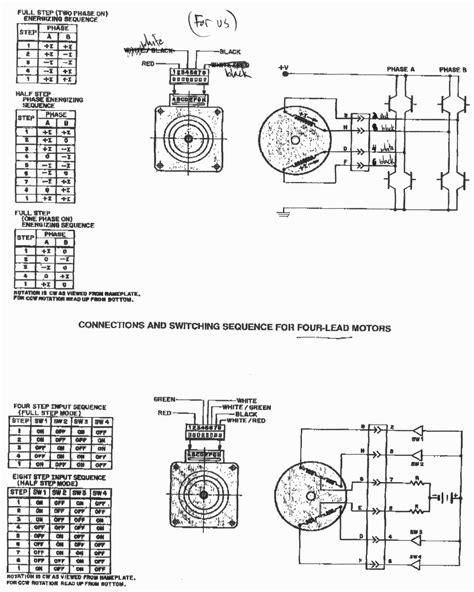 6 wire stepper motor wiring diagram color code stepper