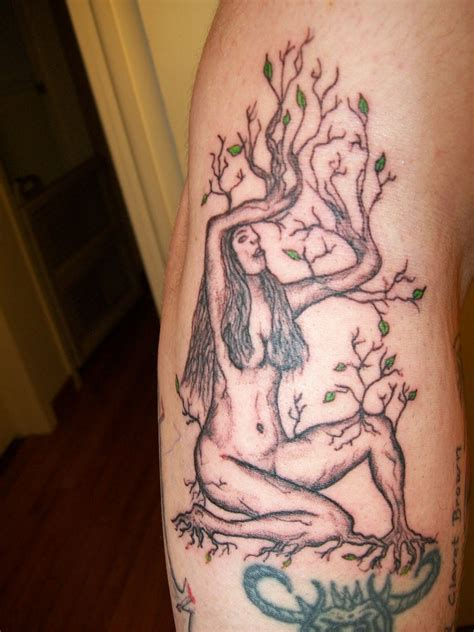 mother earth tattoo nature tree designs