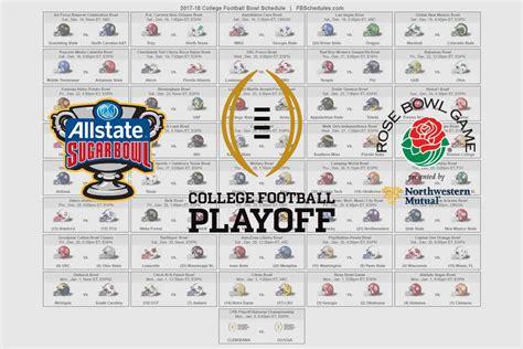 printable schedule for 2017 bowl games 2017 18 college football bowl helmet schedule