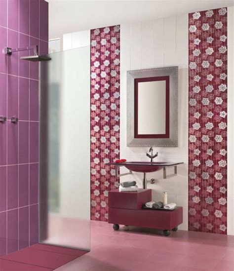 red and purple bathroom tile design in the bathroom a few sexy suggestions