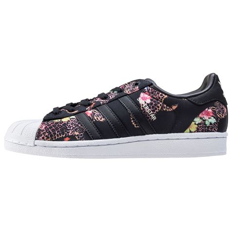black and white patterned adidas trainers adidas superstar w womens trainers in black floral