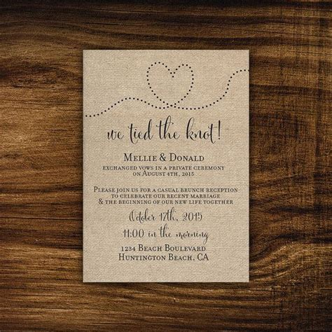 Wedding Reception Announcement by 25 Best Ideas About Elopement Announcement On