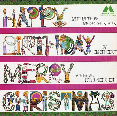 Happy Birthday And Merry Card Benedict Em Happy Birthday Merry Christmas Ms2029