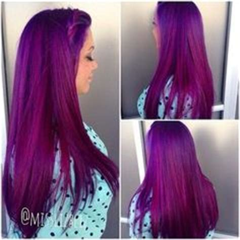Slightly Punky And 90s Inspired By Magenta by Black To Purple Mermaid Colorful Ombre Indian Remy