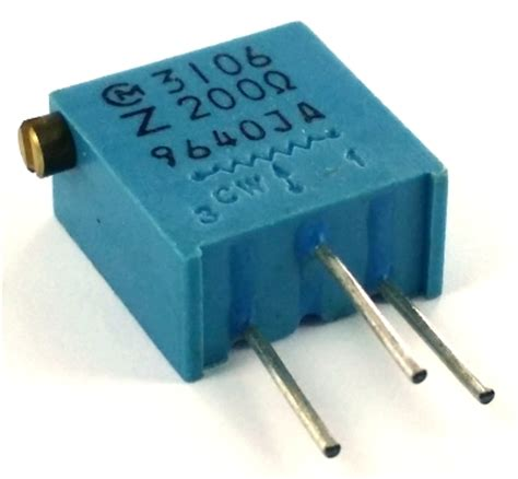 microchip digital variable resistor 200 ohm variable resistor trimpot murata pot3106z 1 201 west florida components