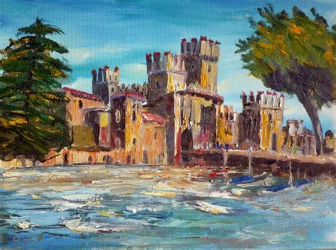 festival painting lago di garda paintings of lake garda sirmione christian seebauer