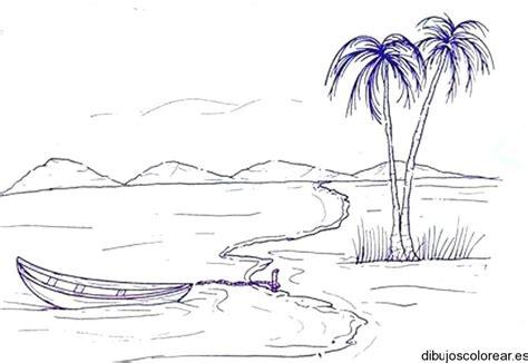 imagenes faciles para dibujar paisajes dibujo de un playa