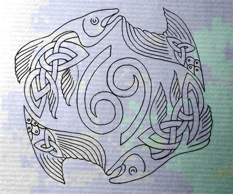 salmon tattoo designs celtic fish pisces cancer by design deviantart