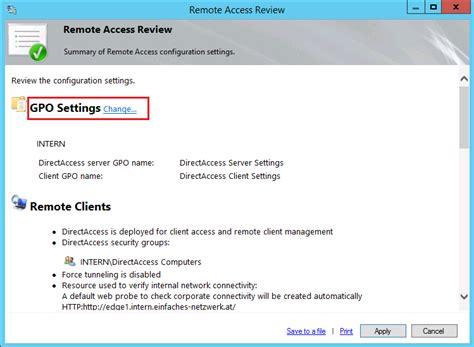 directaccess server rolle installieren und