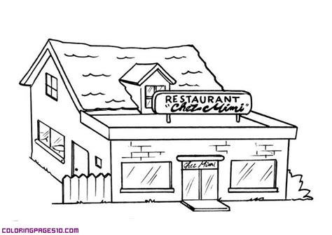 coloring pages for restaurants restaurant for coloring