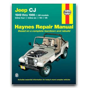 haynes repair manual    jeep cj shop service