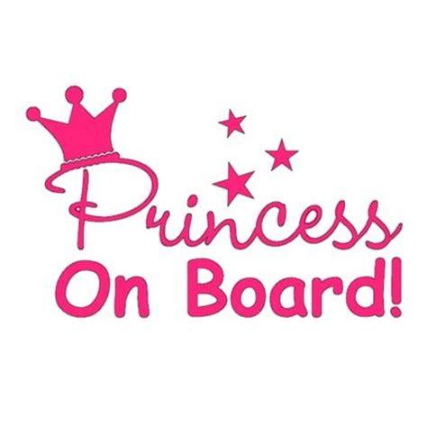 Sticker Princess On Board Tiara pink princess on board car window truck bumper auto notebook laptop sticker in car stickers from
