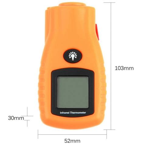 Infrared Thermometer Krisbow Kw06 280 gm270 digital lcd non contact infrared thermometer mini pocket laser temperature tester 32 280